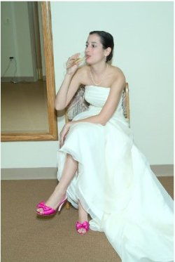 marseeah:  See? Hot pink, four inch Kate Spade slingbacks. I still wear these things every formal event I can make them work with an outfit. My favorite shoes ever.