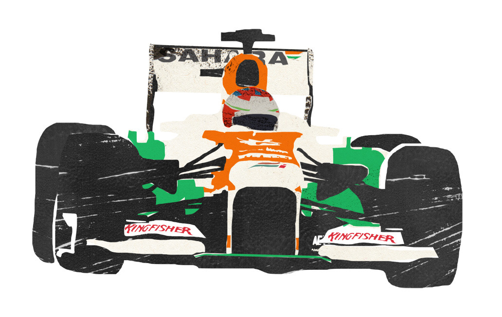 Paul di Resta formula one print :D more here My dads working on a list for more cars he wants me to illustrate, number 1 being Schumacher in his Ferrari!