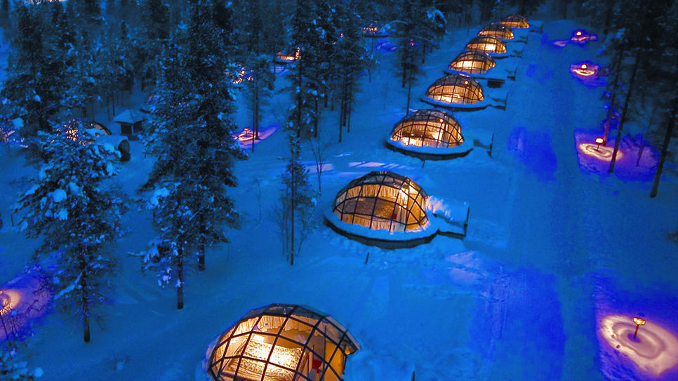 Didn't get enough snow this winter? Head to the Hotel and Igloo Kakslauttanen in Finland! (via Hotel and Igloo Kakslauttanen : Daily Escape : Travel Channel)