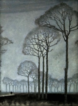 darksilenceinsuburbia:  Jan Mankes. Row of Trees, 1915.  Wikipedia