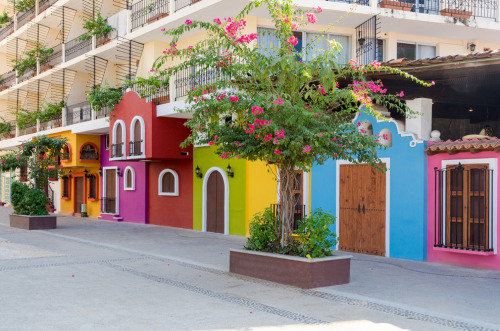 moorbay:  Colourful apartment building in Puerto Vallarta, Mexico. By Karamysh Photography. http://moorbay.tumblr.com