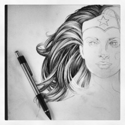 Lots of #hair . #wonderwoman #artwork #artinprogress  #comics
