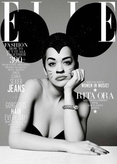 Feast for the Eyes: Rita Ora on the cover of ELLE UK's Women in Music Issue.