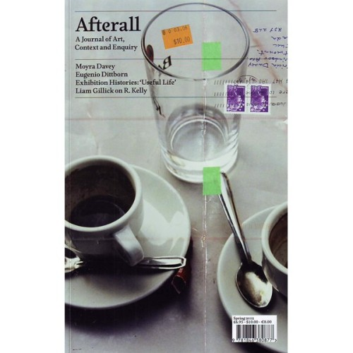 "01|02|13 ""Afterall ist ein Magazine über Kunst, Kontext und Forschung und bietet überraschende, nachdenkliche und eingehende Analysen von Werken der Künstler. Die Zeitschrift konzentriert sich auf zeitgenössische Kunst, immer unter Berücksichtigung ihrer Beziehung zu verschiedenen künstlerischen, sozialen und politischen Kontexten. Afterall wird von Central Saint Martins College of Art and Design, London und der School of Art des California Institute of the Arts, Los Angeles, in Zusammenarbeit mit MuHKA, Antwerpen veröffentlicht."" ""Afterall is a journal of Art, Context and Enquiry and offers surprising, thoughtful and in-depth analysis of artists' work, along with essays that broaden the context in which to understand it. The journal focuses on contemporary art, always considering its relation to different artistic, social and political contexts. Afterall is co-published by Central Saint Martins College of Art and Design, London and the School of Art at the California Institute of the Arts, Los Angeles, in collaboration with MuHKA, Antwerp."" www.afterall.org"
