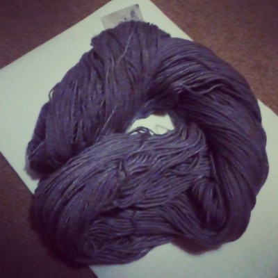 pretty, cheap yarn that i want to use now. But i have to make nice little balls first… ugh.