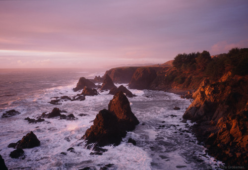 warborne:  Misty Red Seascape - Fuji GSW690II - Provia 400X (by divewizard)