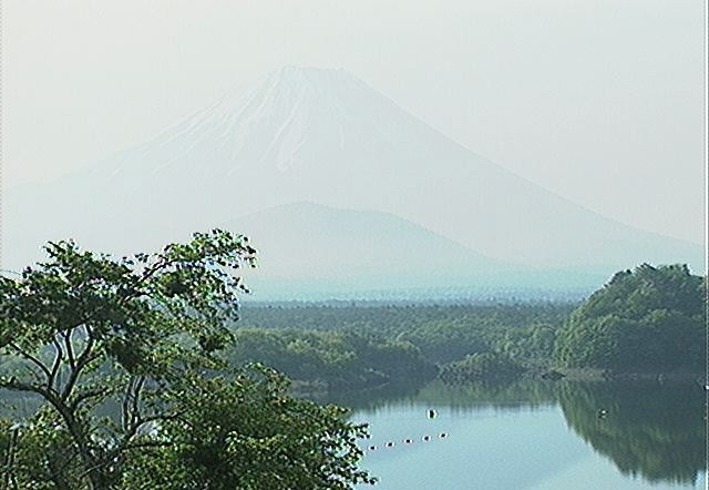 Asia, Japan, Lake Shoji, Kyōgoku, Mount Fuji - webcam