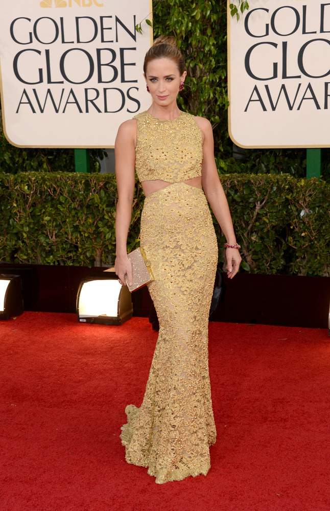 Emily Blunt in Michael Kors at the 2013 Golden Globes. One of my best dressed picks for the night. More Globes red carpet coverage on chicityfashion.com.