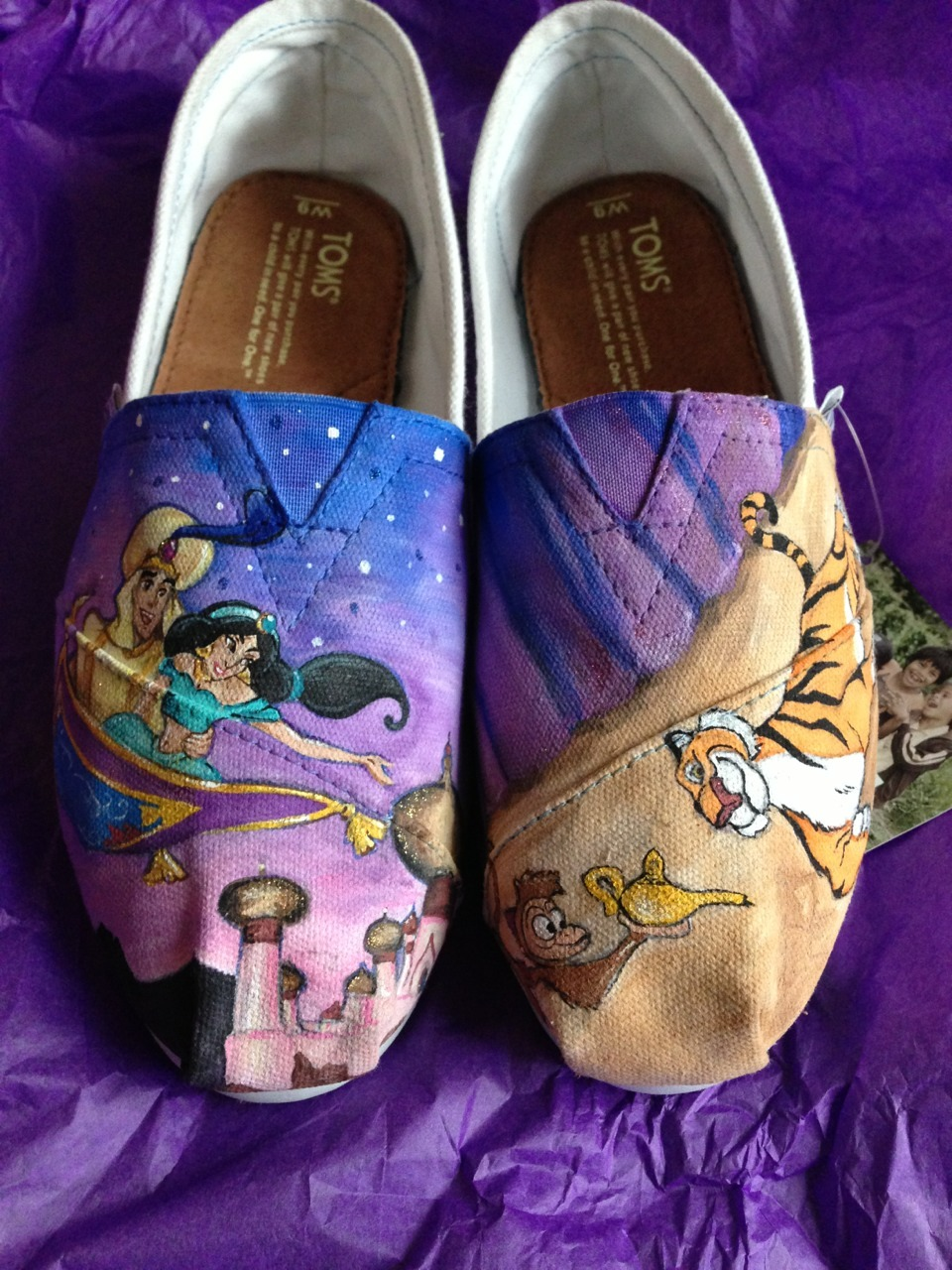 deathcabforangie:  disney toms finally came in! art by emily painter of painted lace studios.