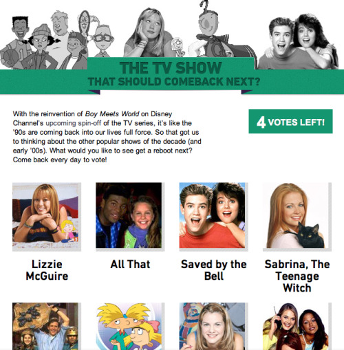 teendotcom:  Which '90s Show Should Get its Own Spin-Off? Vote!