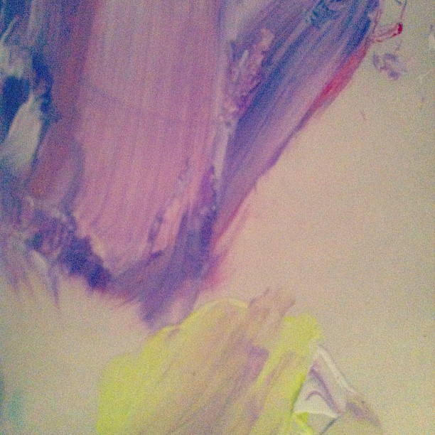 The #palette is prettier than the #painting. #lavender #yellow