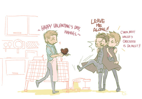 esmidsm:  It's why I didn't celebrate Valentine's Day…v__v;Hansel hates the fucking  sweets,