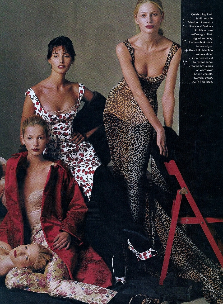 suicideblonde:  Dolce and Gabbana Fall 1996 photographed by Steven Meisel for Vogue, July 1996