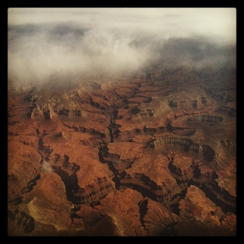 From the plane yesterday, I'm guessing somewhere very near the grand canyon