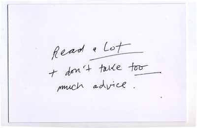 A postcard of advice from Stacy Szymaszek