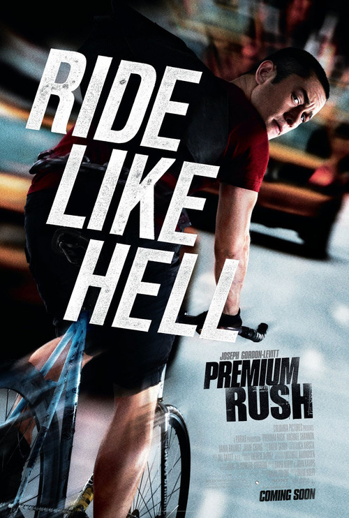 #129 Premium Rush (2012) Dir. David Koepp  I love movies like this, just a simple, straight-forward clean-cut piece of entertainment. Premium Rush is like a live-action cartoon, it whizzes and zips around at breakneck pace and only stops when it needs to. The idea of doing a high-octane action movie around bicycle messengers is a genius one and it makes the film a real kinetic and visceral experience. I really enjoyed the energy of this movie, it's constantly up-tempo and never boring. It's not a film you're gona sit down and analyse but Koepp's direction is wonderfully assured and the simple visual flourishes work wonders in keeping your attention and the geography of all the chase sequences is nicely laid out. A film like this could easily be confusing and messy if in the wrong hands (handheld Greengrass-style would kill this flick) but it's shot with clarity. Joseph Gordon-Levitt is the perfect star to lead this action-movie-but-not-really and Michael Shannon is a constantly entertaining foe. Really enjoyed this one. It does exactly what you want it to and nothing more.