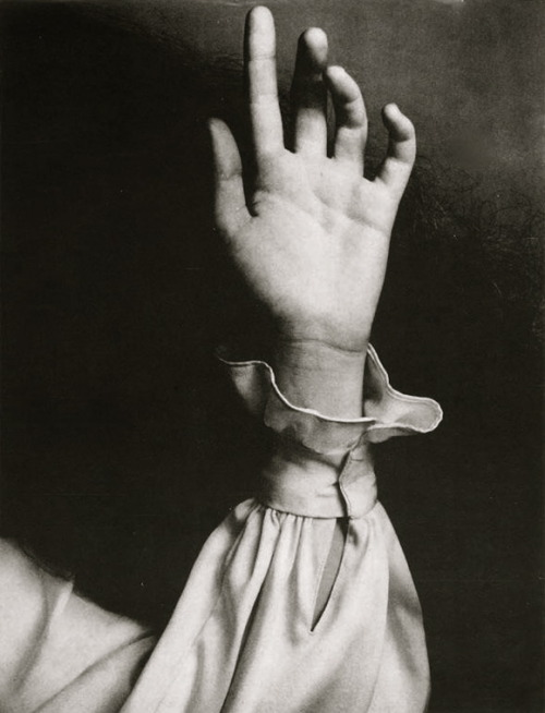 lauramcphee:  Untitled (Hand with long sleeved blouse), Vogue, 1968 (Richard Avedon)