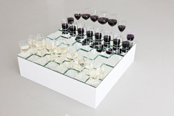 ancientdays:  anders nordby, wine glass chess set