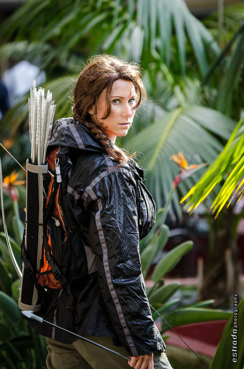 Katniss Everdeen | Anime LA 2013  This amuses me because it's the 74th uniform, but the 75th arena?