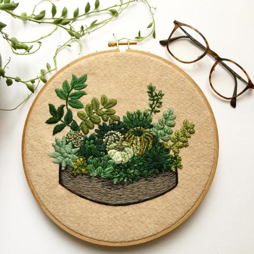 Cactus embroidery tumblr
