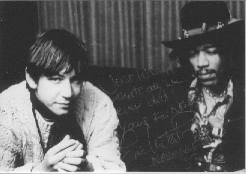 theswinginsixties:  Eric Burdon and Jimi Hendrix