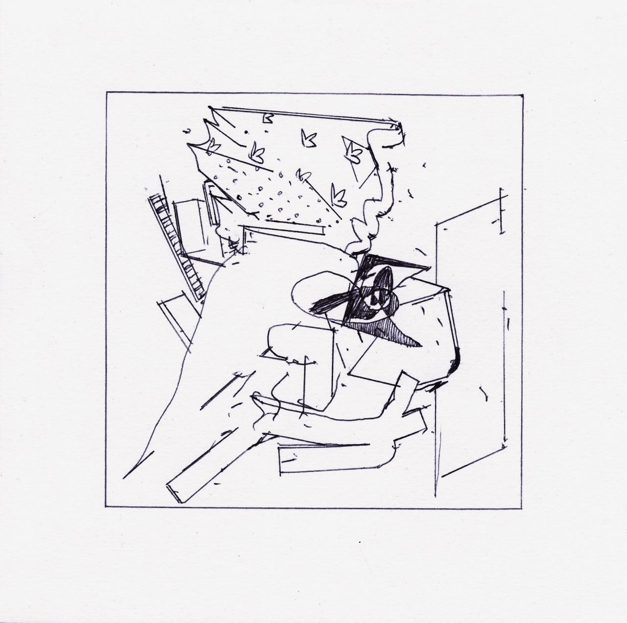 Raw Hands 2021 Ballpoint pen on paper 15 x 15 cm  https://ift.tt/39Yjnoh #drawing#small#square#ballpointpen#line