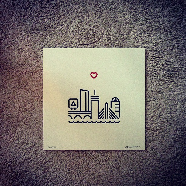 Got my Boston print from @aaronbouvier