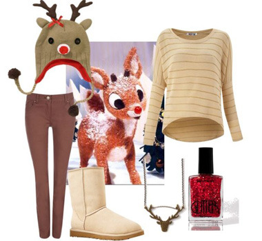 Dress Like 10 Of Your Favorite Christmas Things! P.S. How cute is this Rudolph look?! Check out the other nine outfits right now!