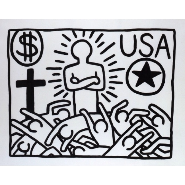 love-magazine:  Keith Haring's Political Line - on LOVE