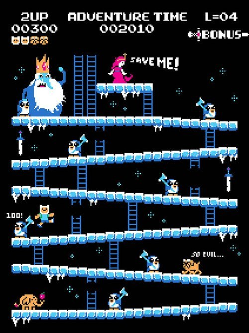 "Adventure Time ""Donkey Kong Edition"" :D"