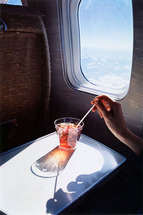 minusmanhattan:  Untitled (Glass on Plane) by William Eggleston.
