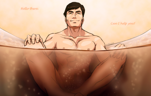 sodomymcscurvylegs:   bath time  by: frailelement   I approve.