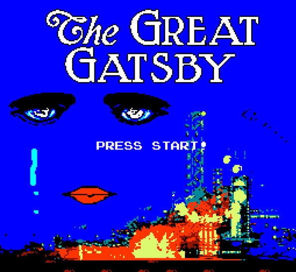Good Job, Old Sport! of the day: Ever wanted to play The Great Gatsby as an NES video game? Well now you can! Thanks to designers Charlie Hoey, Dylan Valentine, Michael DiMotta, and Pete Smith, all you Gatsby fans can finally be Nick Carraway in the search for the reclusive millionaire, collecting bonus cocktails and defeating the evil eyes of Dr T.J. Eckleburg. It's little more than a simple platformer, but it's incredibly well detailed and hugely entertaining, and probably a lot more fun than watching Baz Luhrmann's recent adaptation. Click here to play the game