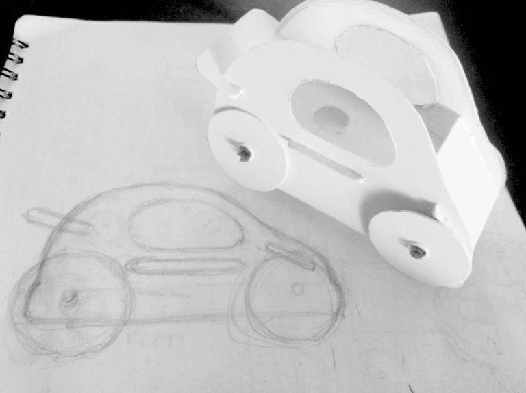 wooden toy car + early concept