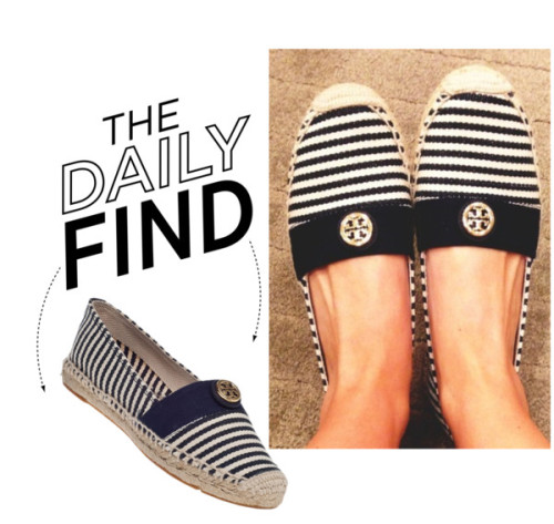 The Daily Find: Tory Burch Beacher Espadrille by polyvore-editorial featuring flat espadrilles ❤ liked on PolyvoreTory Burch flat espadrille