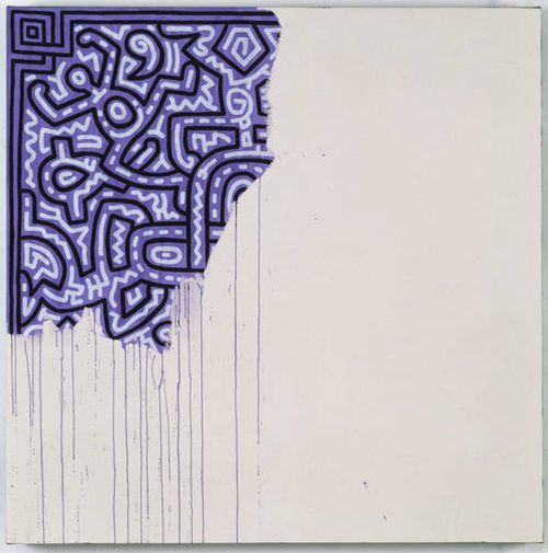vjeranski:  Unfinished Painting 1989, Keith Haring