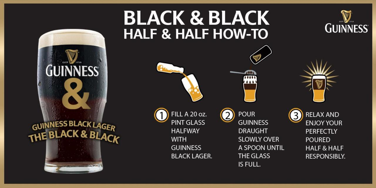 This is also how you make a black and tan, black velvet, and/or lady Guinness.