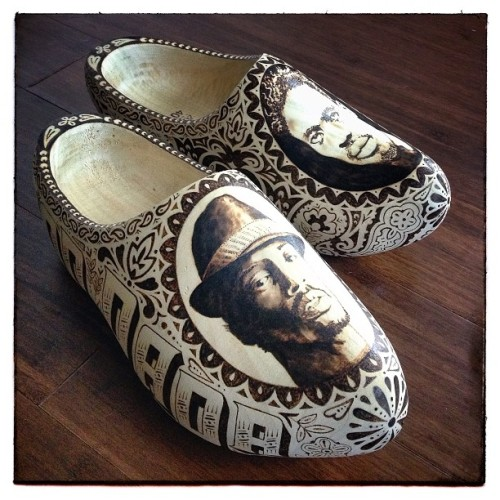 spliffington:  DON DADA AND DON GORGON CLOGS (via Photo by lordblakely • Instagram) The Dons. #dongorgon #dondada #ninjaman #supercat #dancehall #clogs #lordblakely #pdx #jamaica #nederland #holland #dutch #dutchshoes #loi #landofimmigrants #woodenshoes #woodburn #pyroart