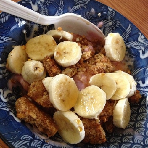Lunch! #gogurts #granola #honey #bananas