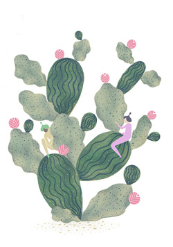 marinamuun:  More cacti love <3 Work for my current project involving these two characters. You will see them reappearing in more of my work to come!