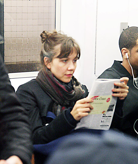 The Gyllenhaals really love their public transportation. You go, girl.