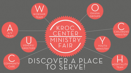 Ministry Fair at the Kroc Center