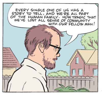 Wilson, a new graphic novel by Daniel Clowes will be published in May 2010. (via Peter Nidzgorski)