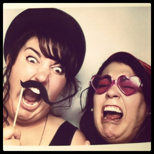 Photo boot hilarity!! Yelling at baby haha with @paulettebonafonte