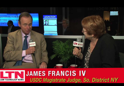 Interview with Judge James Francis on eDiscovery.
