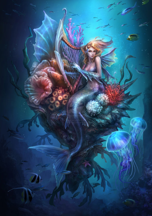 mermanryansfinds:  Mermaid by ~Tn3h
