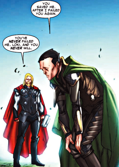 "themightierthor:  ""BUT THOR ONLY EVER PUT LOKI DOWN—"" stop."
