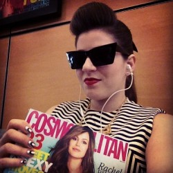 At @CosmoMag about to talk nail art with the gorgeous & hilarious beauty editors Leah Wyar and Loni Albert on SiriusXM's channel Cosmo Radio.