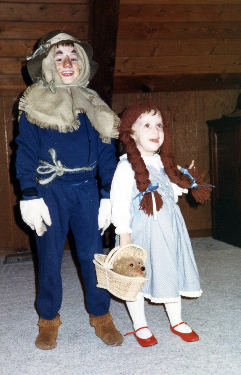 """I was Dorothy every year for Halloween as long as I can remember. This was the year I made my brother join in the fun as well."" Have a great Oz photo? Click here to submit it to NPR's Backseat Book Club."