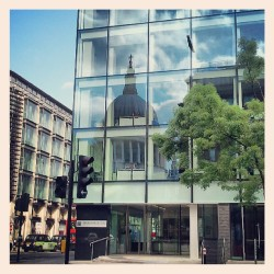 danforpd:    St Paul's in the reflection. #StPauls #London #reflection #window